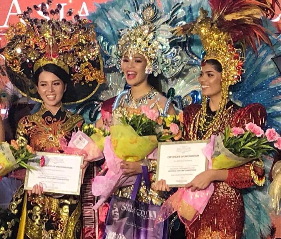 Thúy Vi đạt á quân trang phục dân tộc tại cuộc thi Hoa hậu châu Á-TBD Ảnh 1