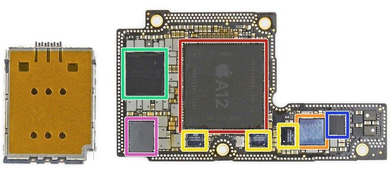 'Mổ bụng' iPhone Xs, Xs Max, phát hiện thanh pin chữ L độc đáo Ảnh 3