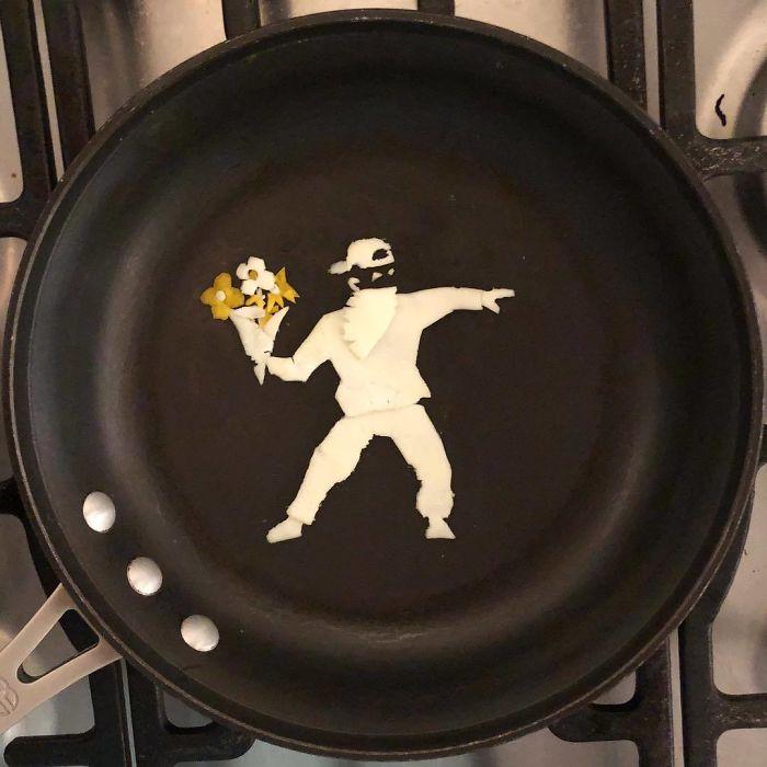 Những bữa sáng nghệ thuật từ trứng dưới bàn tay nam sinh Mexico Ảnh 3