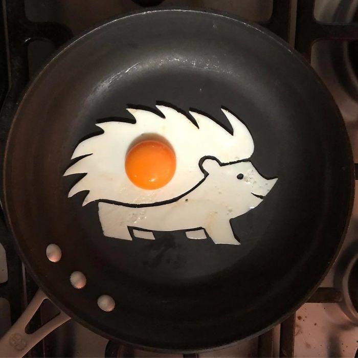 Những bữa sáng nghệ thuật từ trứng dưới bàn tay nam sinh Mexico Ảnh 15