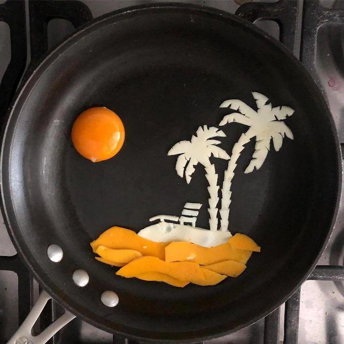 Những bữa sáng nghệ thuật từ trứng dưới bàn tay nam sinh Mexico Ảnh 8