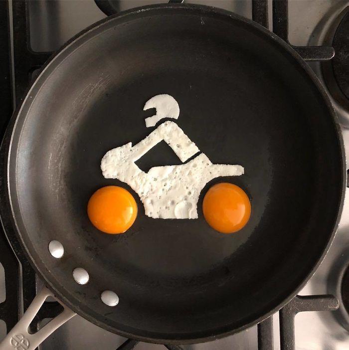 Những bữa sáng nghệ thuật từ trứng dưới bàn tay nam sinh Mexico Ảnh 13