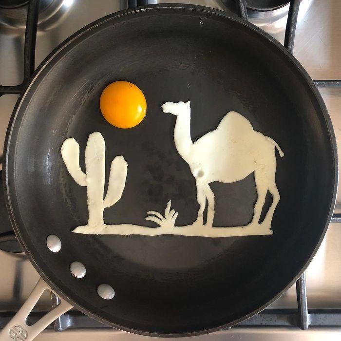 Những bữa sáng nghệ thuật từ trứng dưới bàn tay nam sinh Mexico Ảnh 7