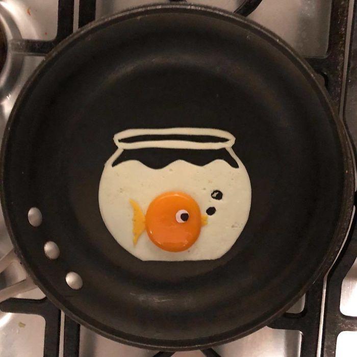 Những bữa sáng nghệ thuật từ trứng dưới bàn tay nam sinh Mexico Ảnh 6