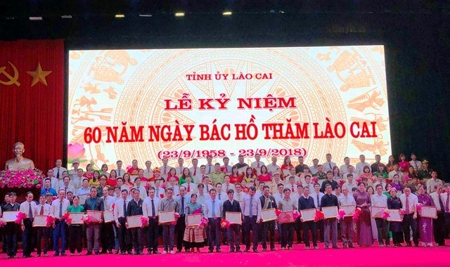 Kỷ niệm 60 năm Ngày Bác Hồ lên thăm Lào Cai Ảnh 1