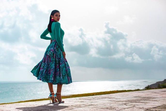 Cận cảnh vẻ đẹp tân Hoa hậu Hoàn vũ Puerto Rico Ảnh 12