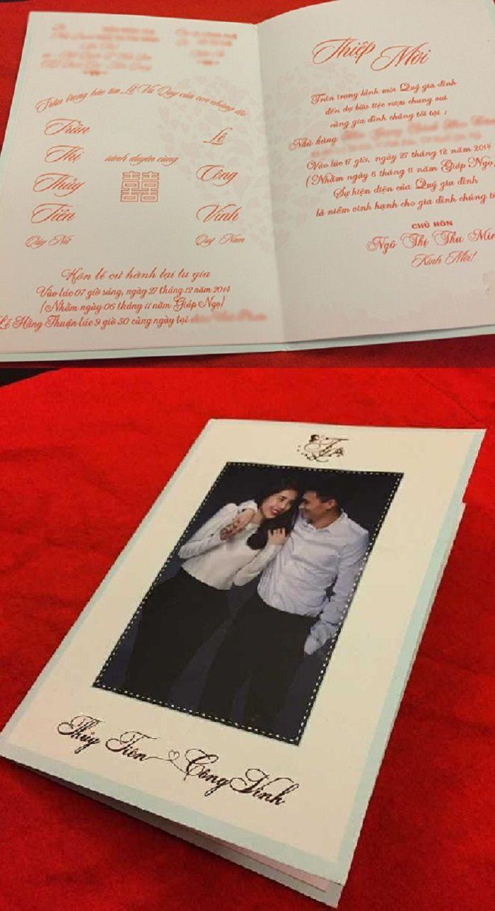 Thiệp cưới của sao Việt: Người cầu kỳ đẹp mắt, người đơn giản bất ngờ Ảnh 9