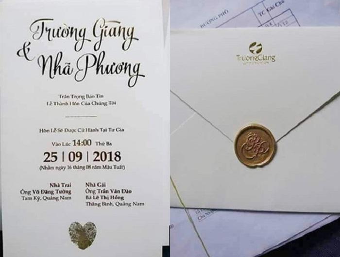 Thiệp cưới của sao Việt: Người cầu kỳ đẹp mắt, người đơn giản bất ngờ Ảnh 1