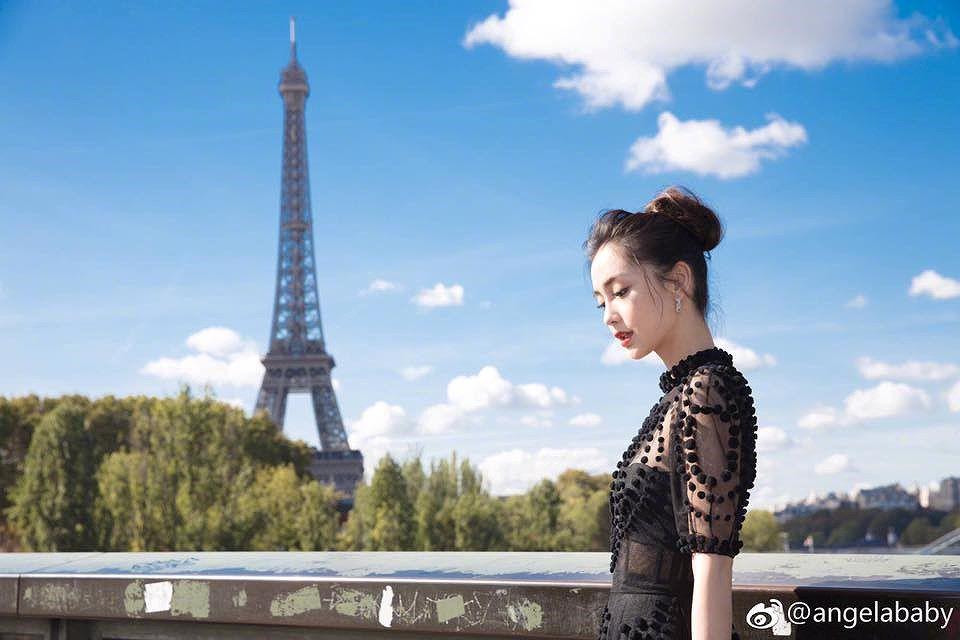 Angelababy đẹp tựa nữ thần giữa kinh đô thời trang Paris Ảnh 13