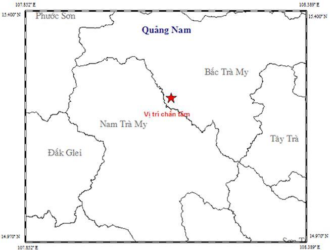 Động đất 3,1 độ richte tại Quảng Nam Ảnh 1