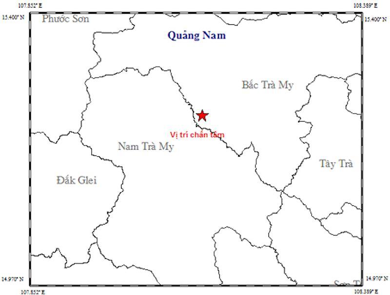 Động đất 3,1 độ richte tại Quảng Nam Ảnh 2