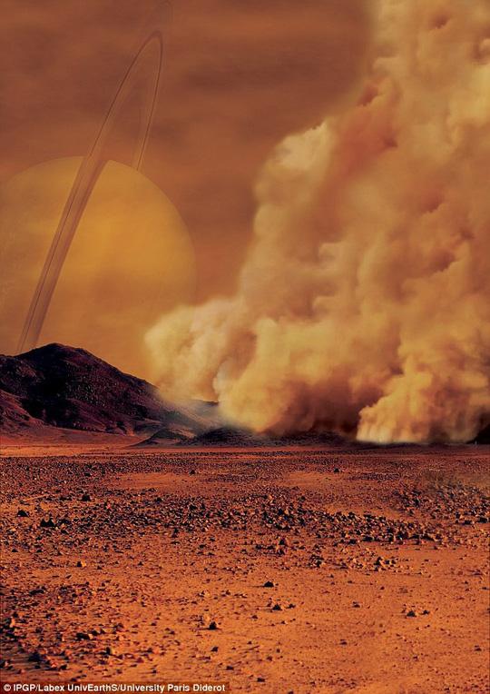 Siêu bão bụi mang dấu hiệu sự sống trên mặt trăng Sao Thổ Ảnh 1