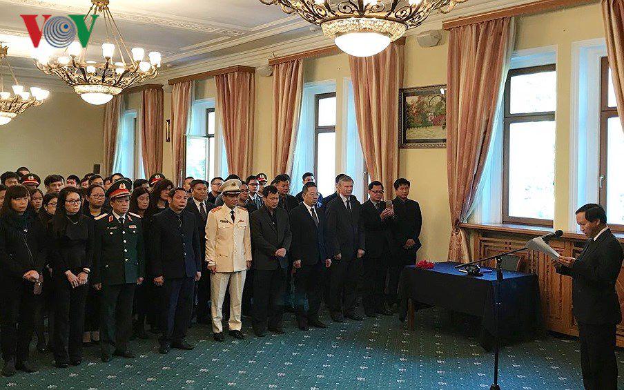 Xúc động Lễ viếng Chủ tịch nước Trần Đại Quang tại LB Nga Ảnh 1