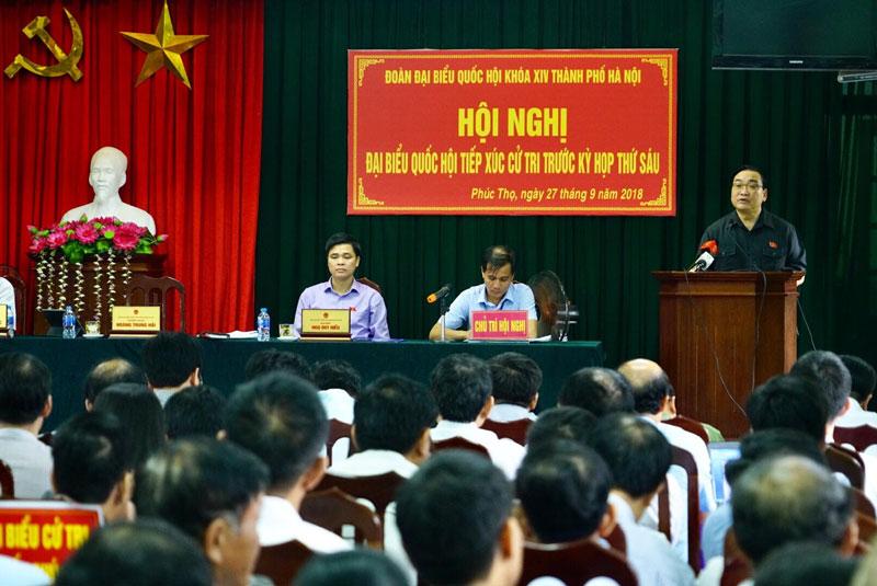 Bí thư Thành ủy Hoàng Trung Hải: Phát huy hơn nữa tiềm năng, lợi thế để phát triển địa phương Ảnh 2
