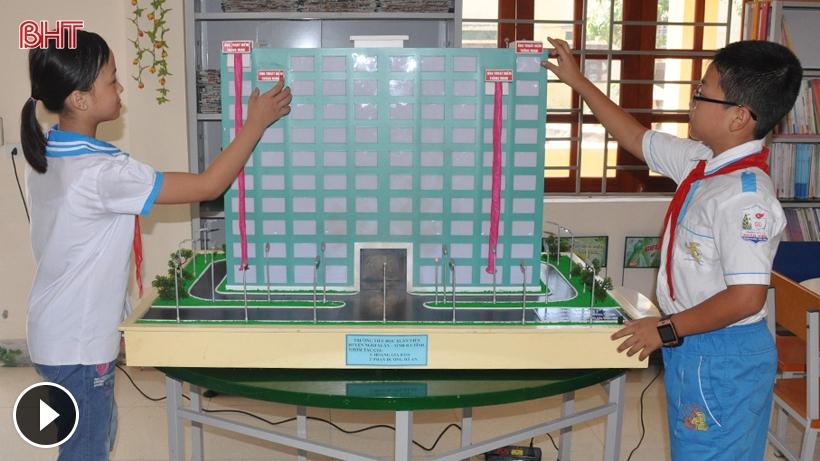 Xem sáng chế hệ thống cứu sinh ở chung cư của học sinh Hà Tĩnh Ảnh 1