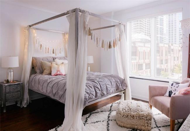 Những mẫu giường Canopy vừa đẹp vừa nữ tính khiến chị em mê mẩn Ảnh 12