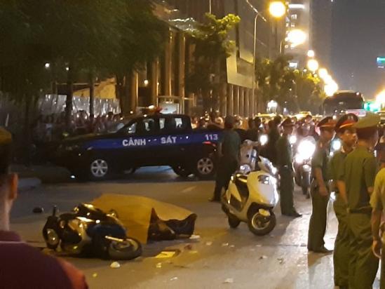 Hà Nội: Thanh sắt rơi từ công trình xây dựng, 1 người tử vong tại chỗ Ảnh 3