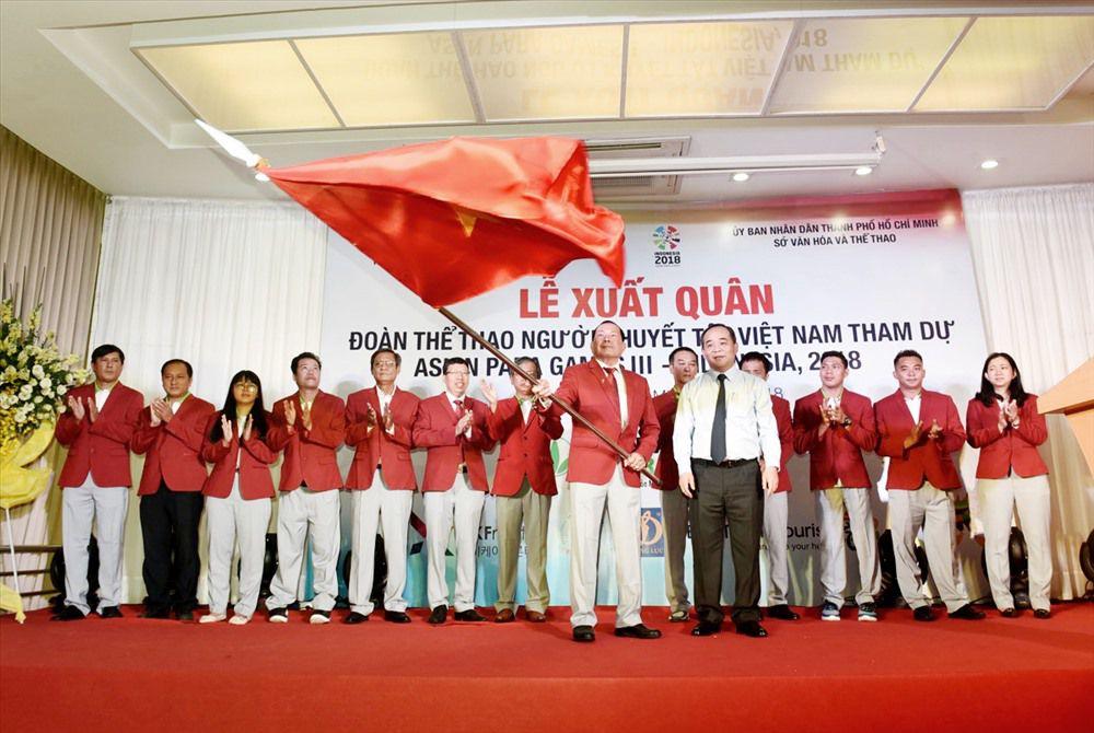 Đoàn thể thao người khuyết tật Việt Nam xuất quân dự Asian Para Games Ảnh 1
