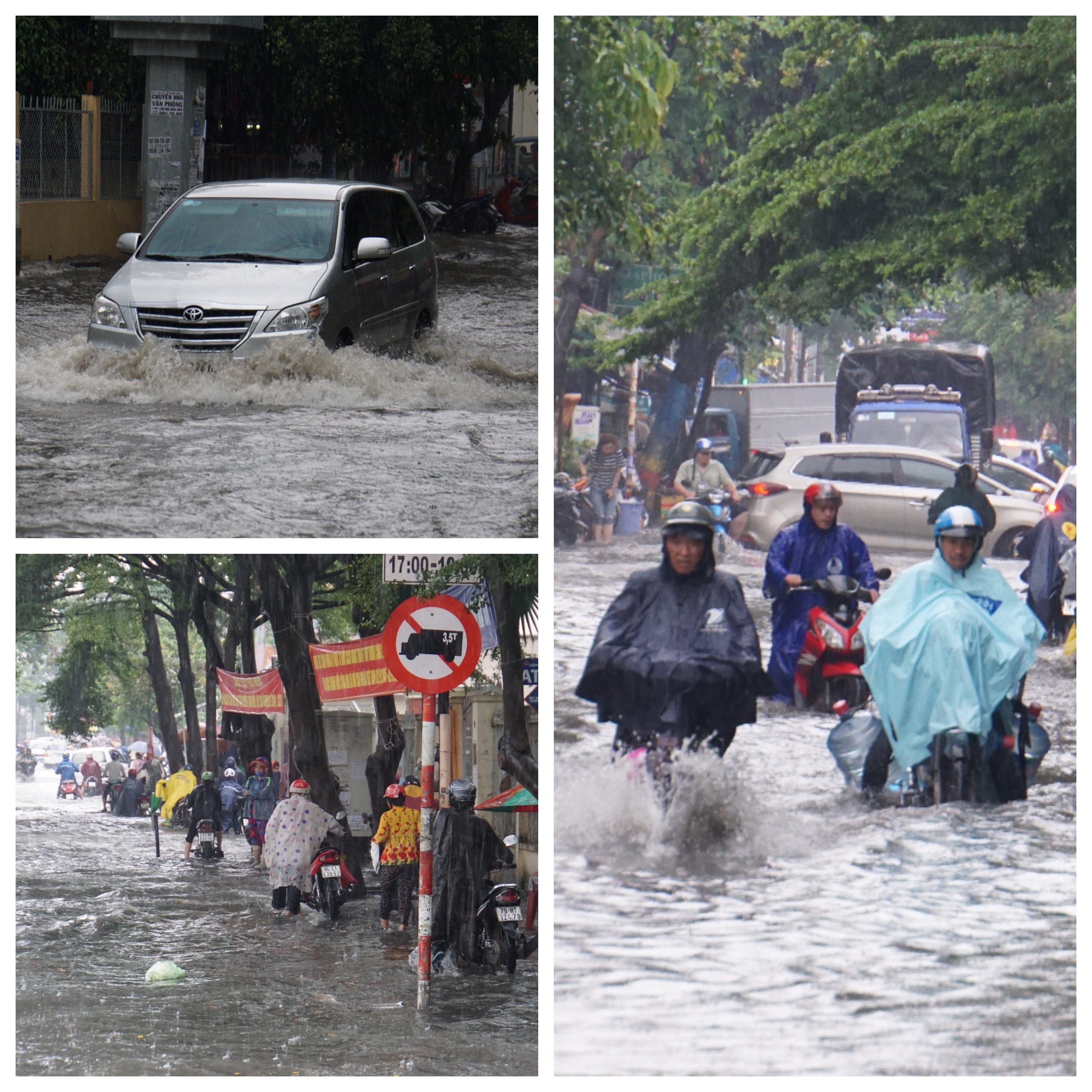 Khu nhà giàu Sài Gòn ngập 'te tua', dân rùng mình lội nước bẩn Ảnh 5