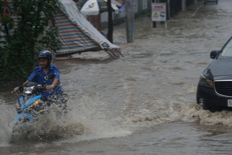 Khu nhà giàu Sài Gòn ngập 'te tua', dân rùng mình lội nước bẩn Ảnh 2