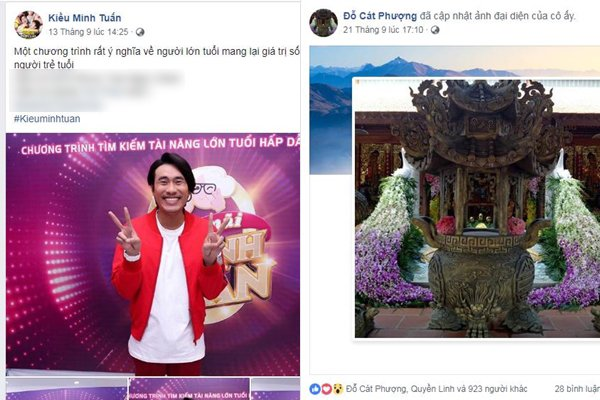 Cát Phượng - Kiều Minh Tuấn đồng loạt bị hack Facebook Ảnh 1