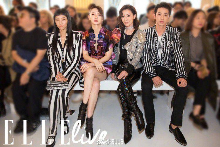 Hứa Ngụy Châu bảnh bao bên 'noona' Sandara Park, Xa Thi Mạn và Mai Davika ở 'Paris Fashion Week' ngày 4 Ảnh 35