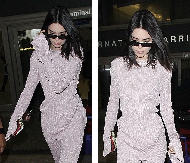 Kendall Jenner mặc 'dị', liên tục che mặt tránh cánh săn ảnh trên phố Ảnh 11