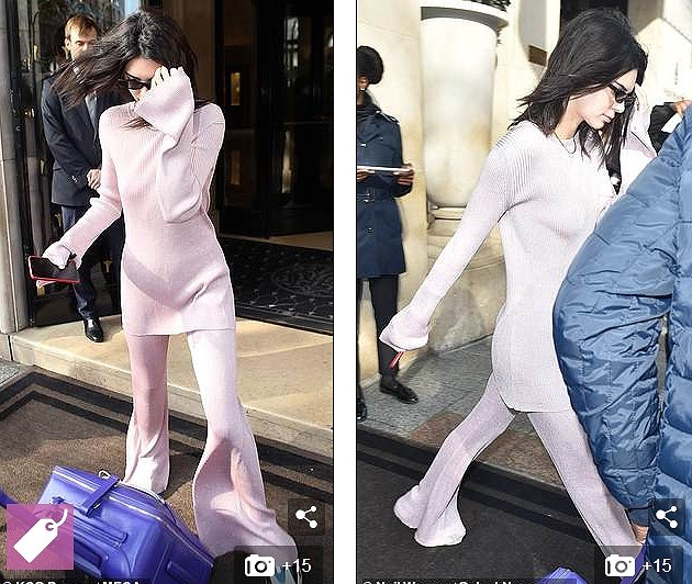 Kendall Jenner mặc 'dị', liên tục che mặt tránh cánh săn ảnh trên phố Ảnh 3