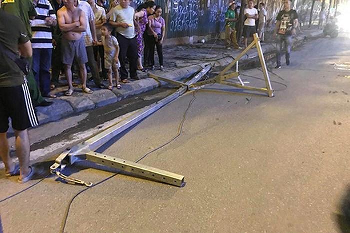 Rơi vật liệu xây dựng chết người ở Hà Nội: Nhà thầu phụ nhận trách nhiệm Ảnh 1
