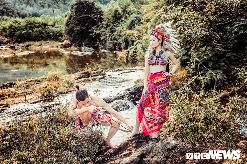 Cặp đôi Hà Tĩnh chụp ảnh cưới phong cách thổ dân đẹp rực rỡ Ảnh 8