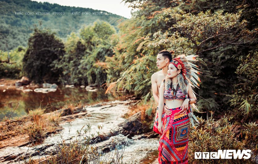 Cặp đôi Hà Tĩnh chụp ảnh cưới phong cách thổ dân đẹp rực rỡ Ảnh 6