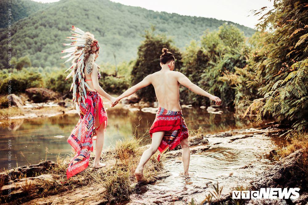 Cặp đôi Hà Tĩnh chụp ảnh cưới phong cách thổ dân đẹp rực rỡ Ảnh 4