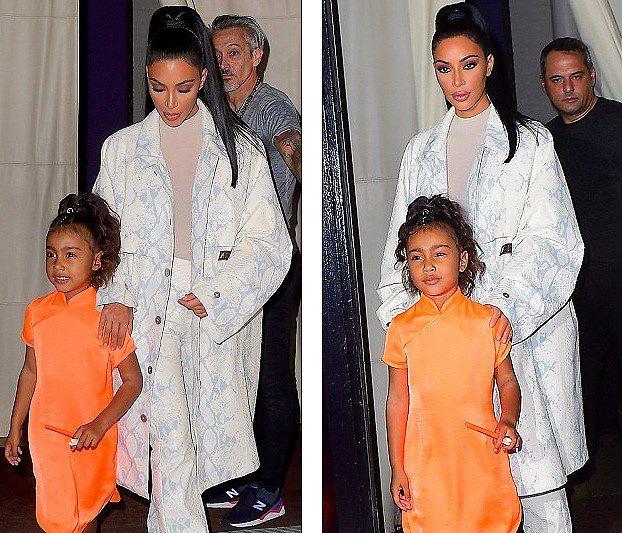 Kim Kardashian diện set đồ hồng sành điệu, vui vẻ dẫn các con đi dạo phố Ảnh 8