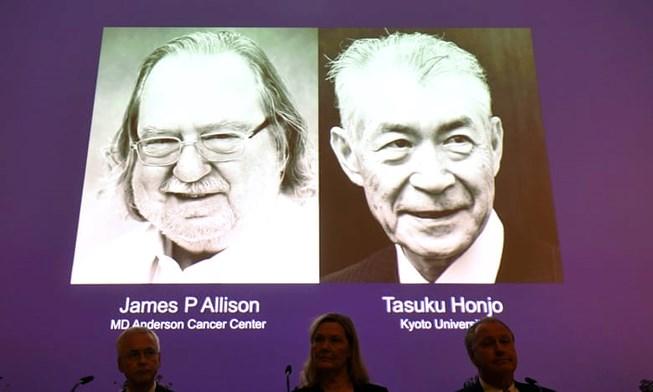 2 tác giả nghiên cứu điều trị ung thư nhận Nobel y học 2018 Ảnh 1