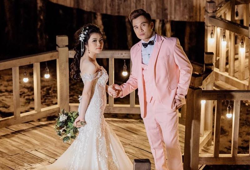 Lễ cưới ở quê của 'ca sĩ hội chợ' Lâm Chấn Huy và cô dâu 9X Ảnh 3