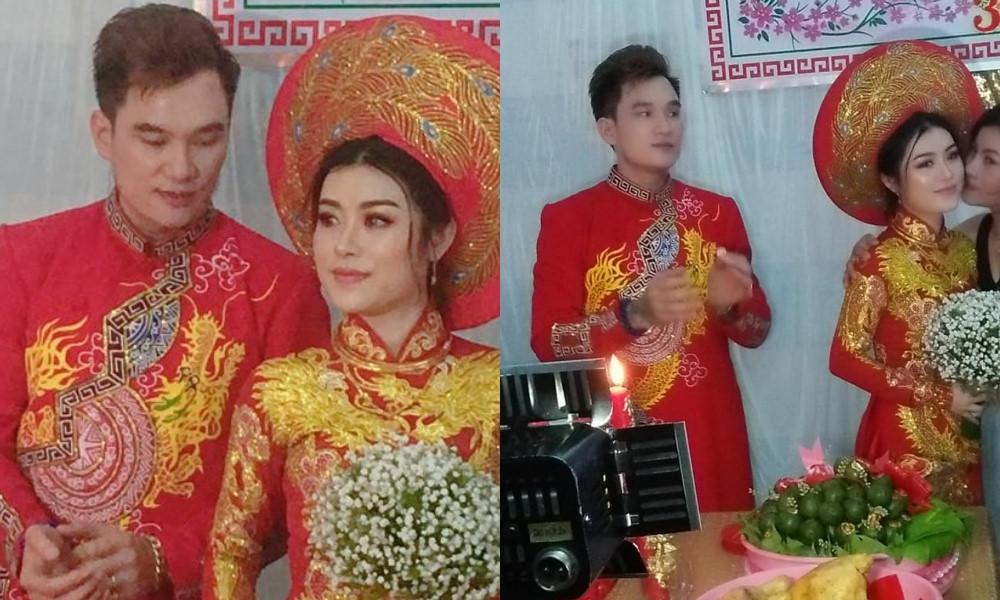 Lễ cưới ở quê của 'ca sĩ hội chợ' Lâm Chấn Huy và cô dâu 9X Ảnh 2