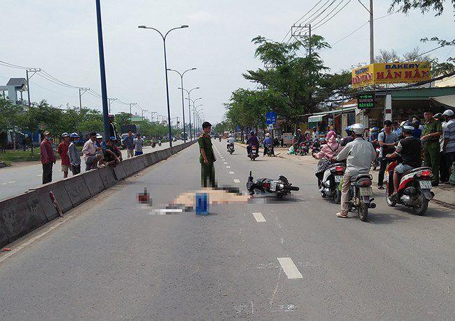 Tránh xe buýt, thanh niên bị xe tải cán tử vong ở Bình Chánh Ảnh 1