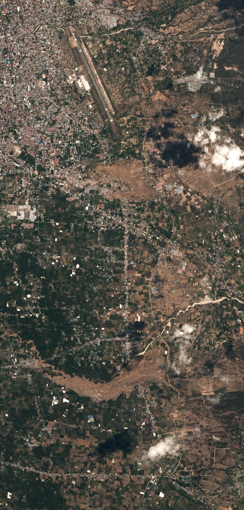Chùm ảnh vệ tinh chụp Palu trước và sau động đất, sóng thần Ảnh 10