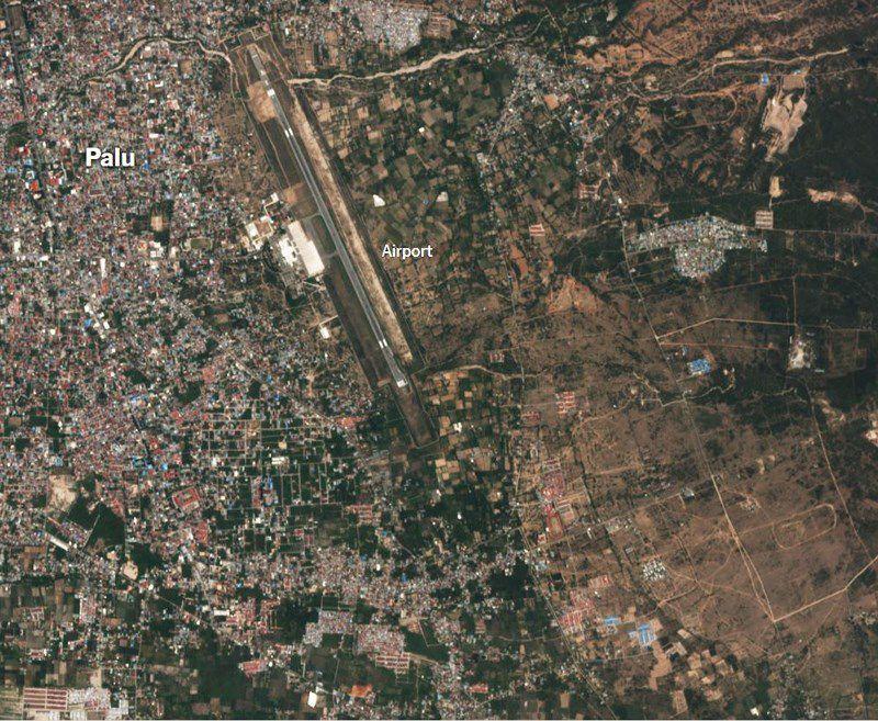 Chùm ảnh vệ tinh chụp Palu trước và sau động đất, sóng thần Ảnh 9