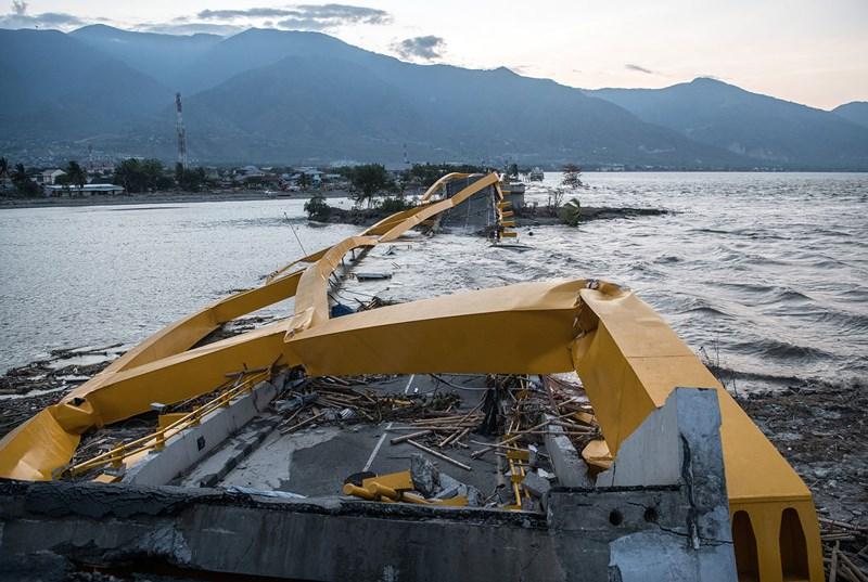 Chùm ảnh vệ tinh chụp Palu trước và sau động đất, sóng thần Ảnh 4