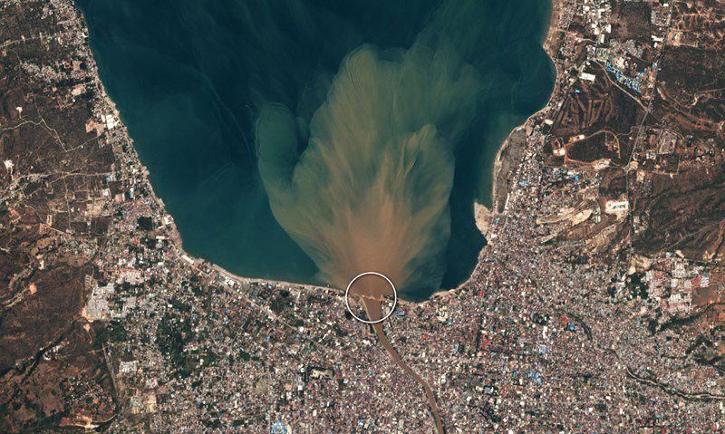 Chùm ảnh vệ tinh chụp Palu trước và sau động đất, sóng thần Ảnh 6