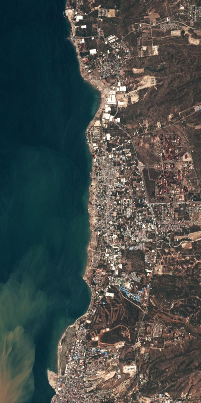 Chùm ảnh vệ tinh chụp Palu trước và sau động đất, sóng thần Ảnh 8