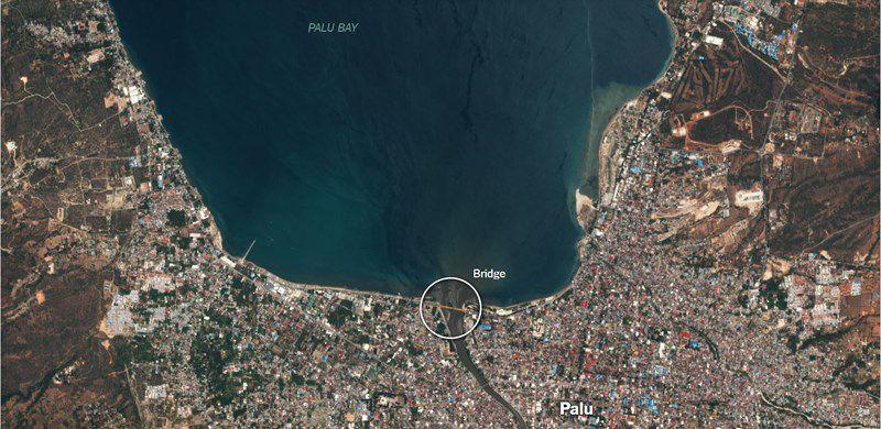 Chùm ảnh vệ tinh chụp Palu trước và sau động đất, sóng thần Ảnh 5