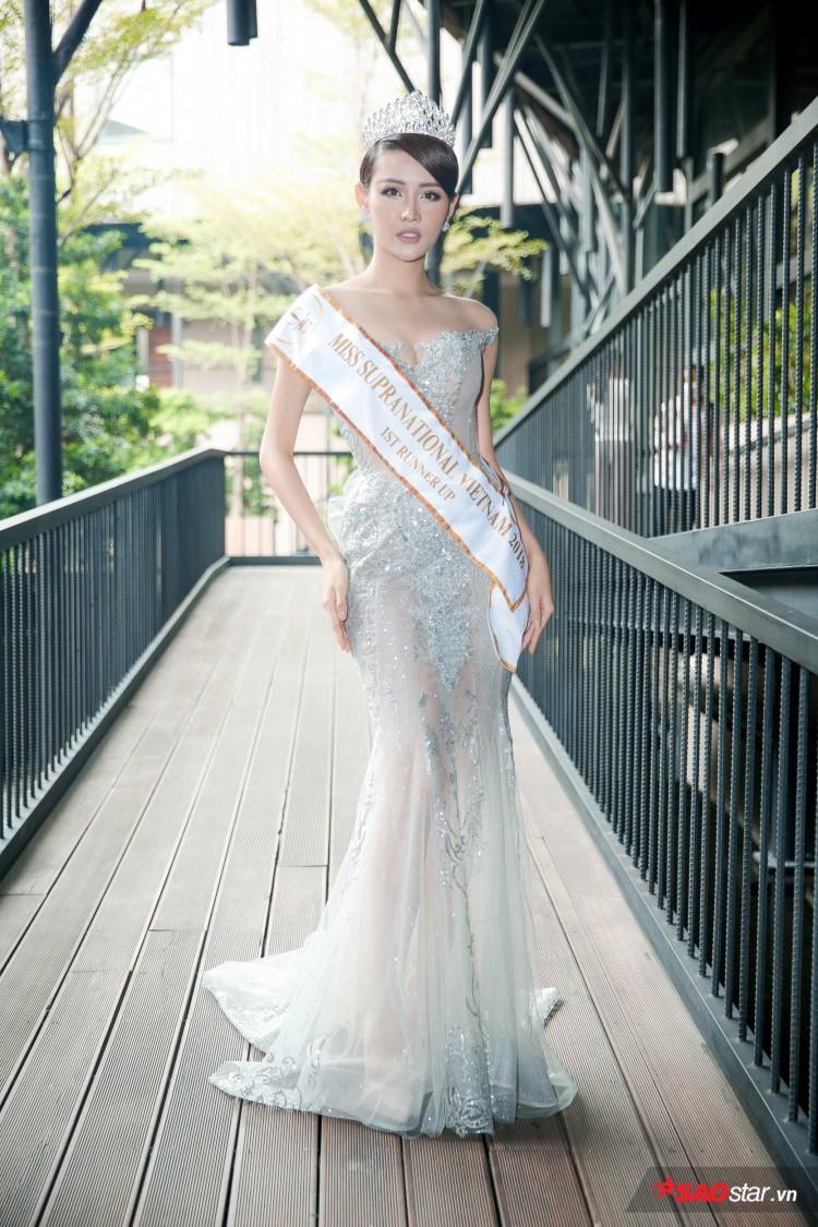 Minh Tú khoe chân thon, vòng một đầy đặn khi công bố mình là đại diện tại Hoa hậu Siêu quốc gia Ảnh 9