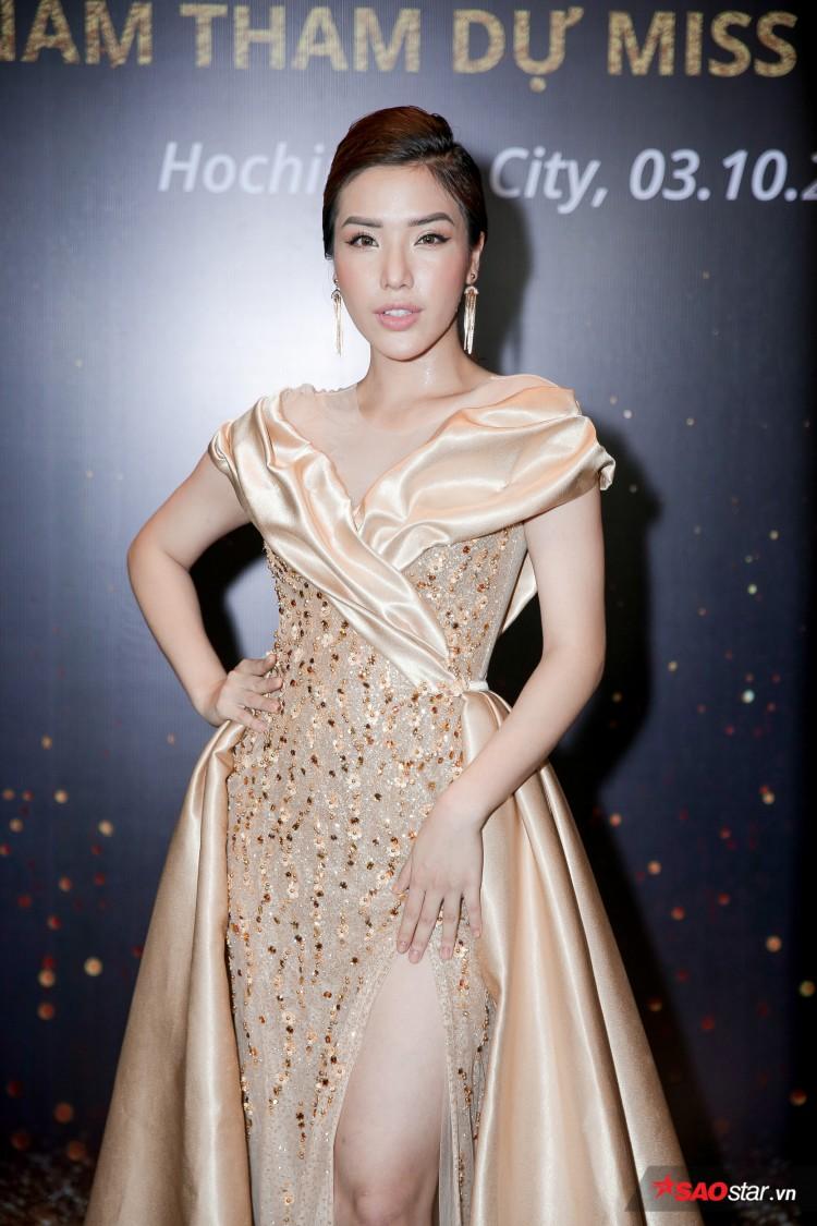 Minh Tú khoe chân thon, vòng một đầy đặn khi công bố mình là đại diện tại Hoa hậu Siêu quốc gia Ảnh 7