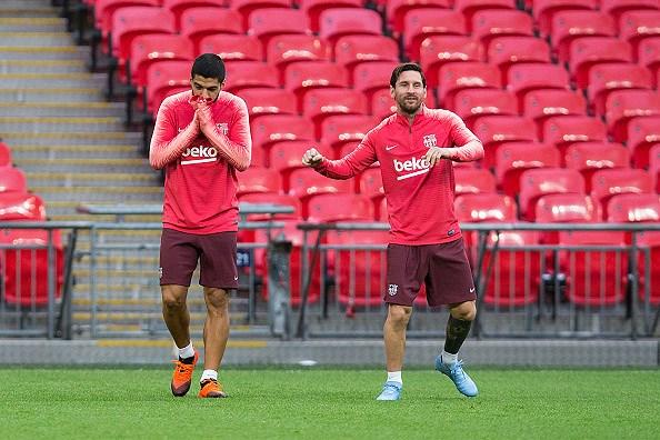 Messi-Suarez 'cặp kè' trên sân tập, sẵn sàng phá lưới Tottenham Ảnh 4