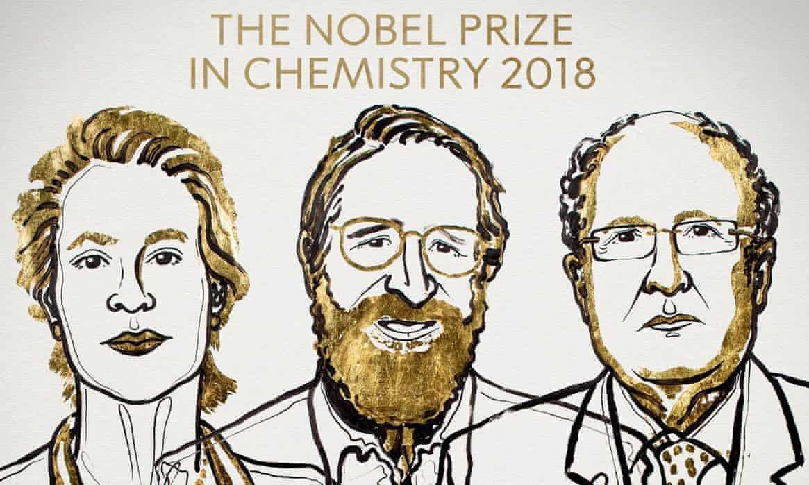Nobel Hóa học 2018 vinh danh các nghiên cứu về enzyme và protein Ảnh 1