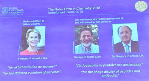 Nobel Hóa học 2018: Nghiên cứu mở đường về protein Ảnh 1