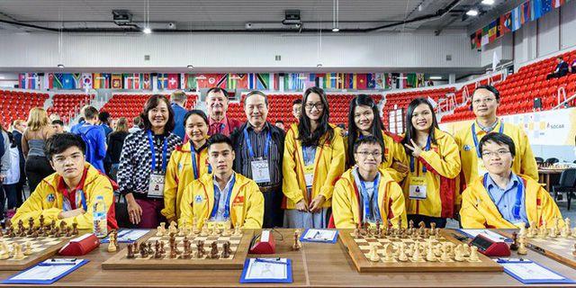 Trường Sơn giành HCV tại giải cờ vua đồng đội thế giới 2018 Ảnh 1