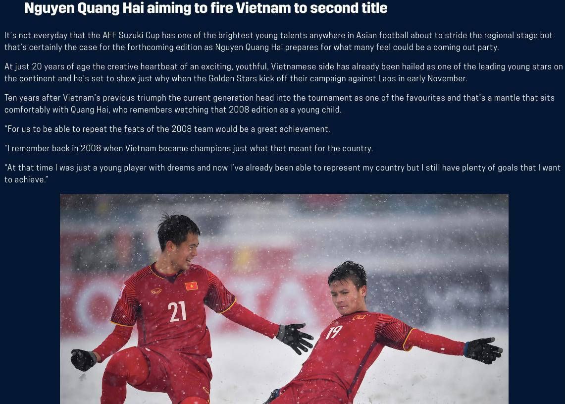 Quang Hải: 'Vô địch AFF Cup 2018 là mong mỏi của phần lớn người Việt Nam' Ảnh 3